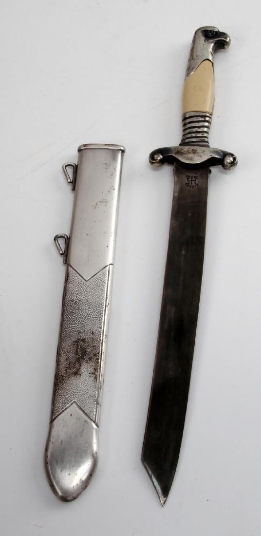 WWII GERMAN THIRD REICH MINI RAD DAGGER & SCABBARD - 4