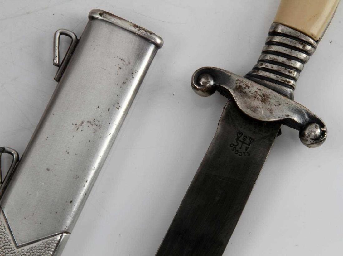 WWII GERMAN THIRD REICH MINI RAD DAGGER & SCABBARD - 5