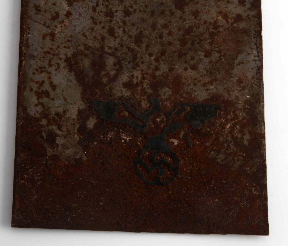 WWII GERMAN 3RD REICH MINE ACHTUNG PORCELAIN SIGN - 3