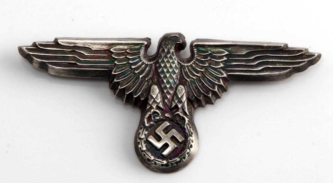 WWII GERMAN THIRD REICH SS OFFICER VISOR CAP EAGLE