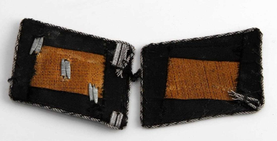 WWII GERMAN THIRD REICH SS OFFICER COLLAR TAB PAIR - 2