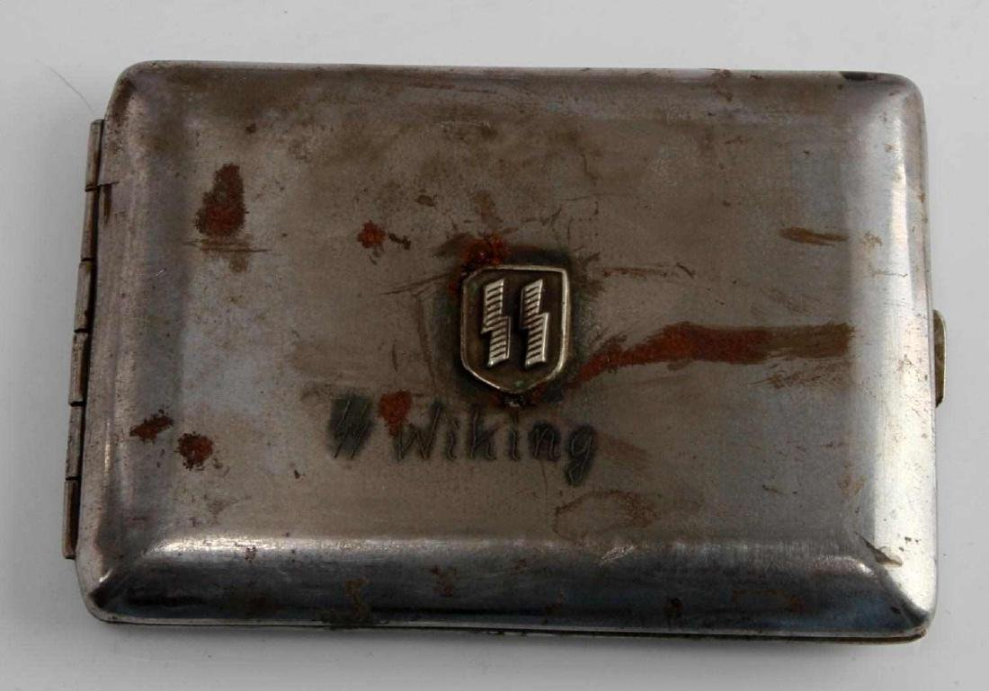 WWII GERMAN 3RD REICH SS WIKING DIV CIGARETTE CASE