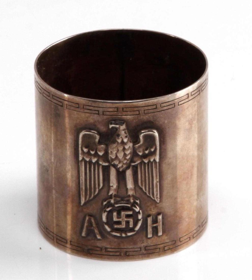 WWII GERMAN ADOLF HITLER SILVER FORMAL NAPKIN RING