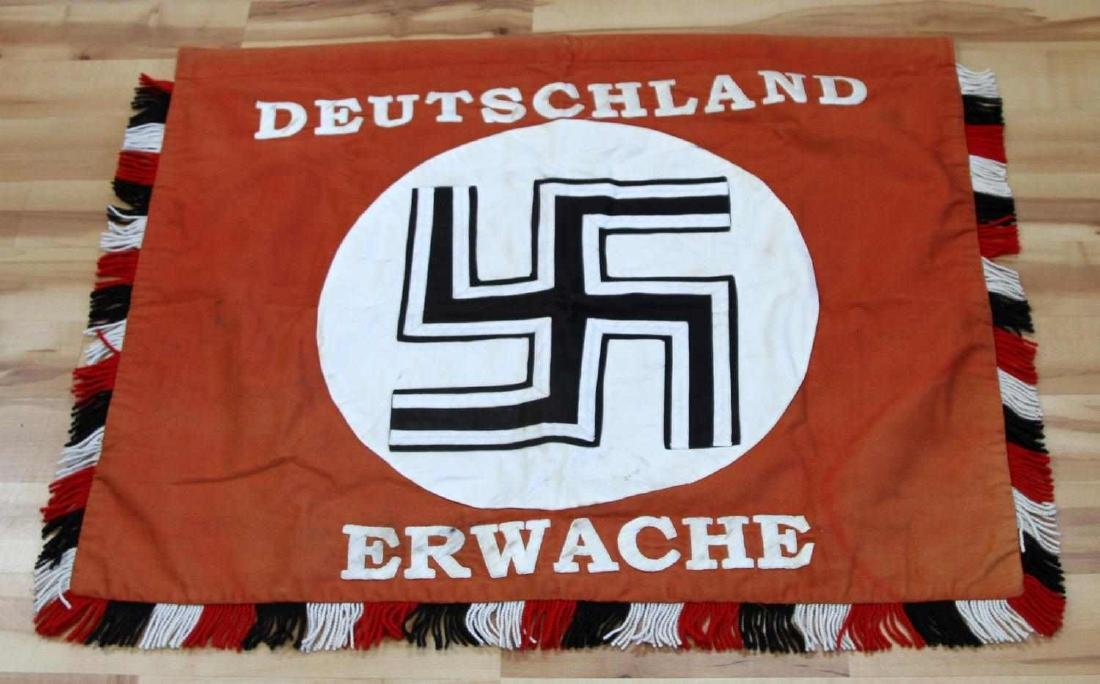 GERMAN WWII DEUTSCHLAND ERWACHE STANDARTE FLAG
