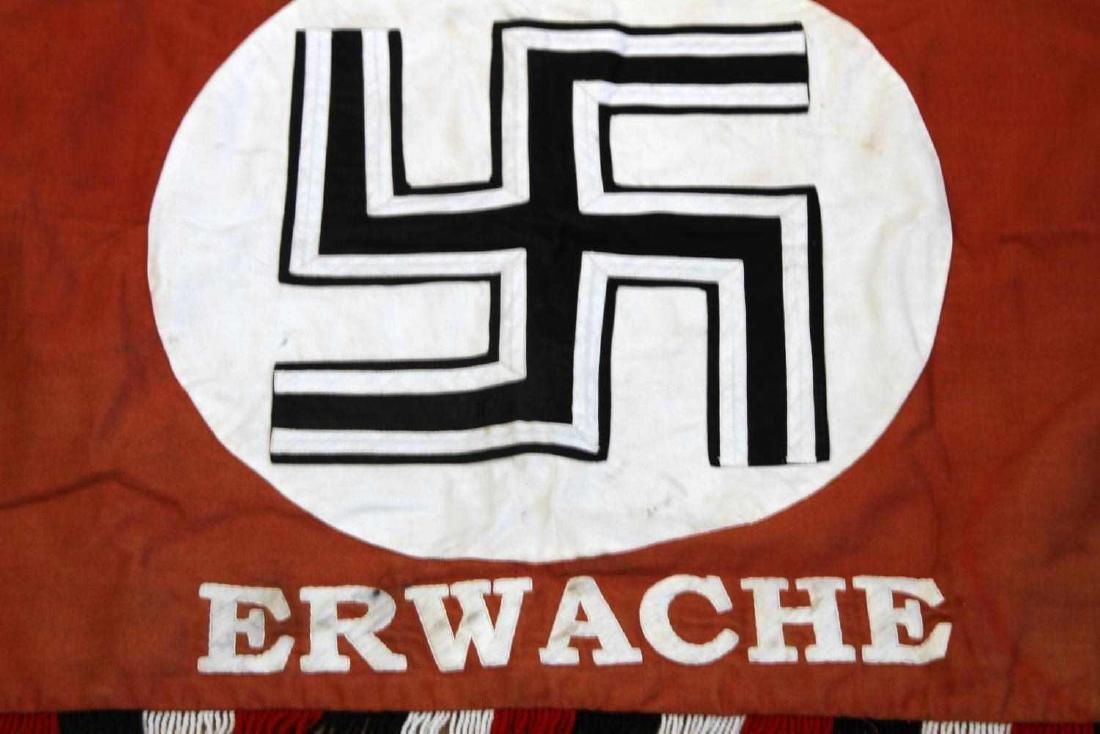GERMAN WWII DEUTSCHLAND ERWACHE STANDARTE FLAG - 2