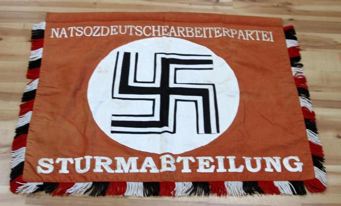 GERMAN WWII DEUTSCHLAND ERWACHE STANDARTE FLAG - 3