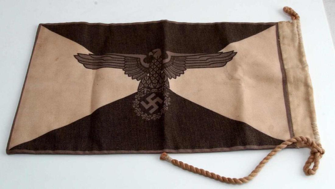 WWII GERMAN THIRD REICH WAFFEN SS STAFF CAR FLAG