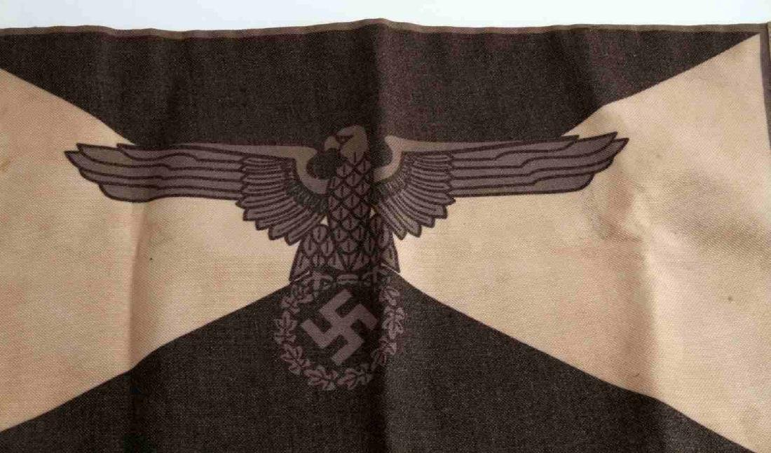 WWII GERMAN THIRD REICH WAFFEN SS STAFF CAR FLAG - 2