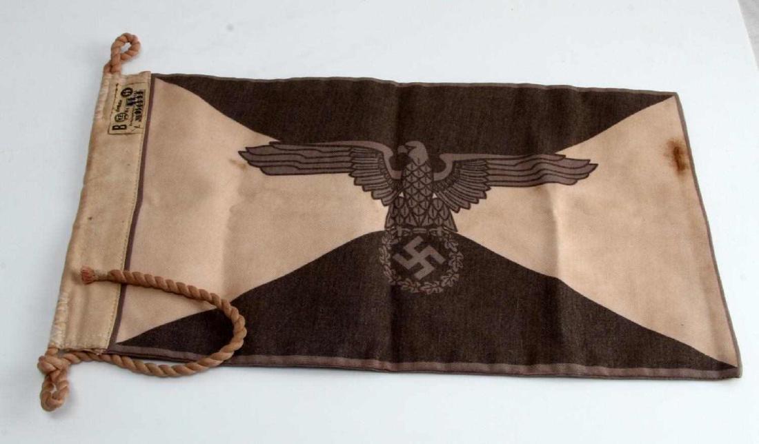 WWII GERMAN THIRD REICH WAFFEN SS STAFF CAR FLAG - 3