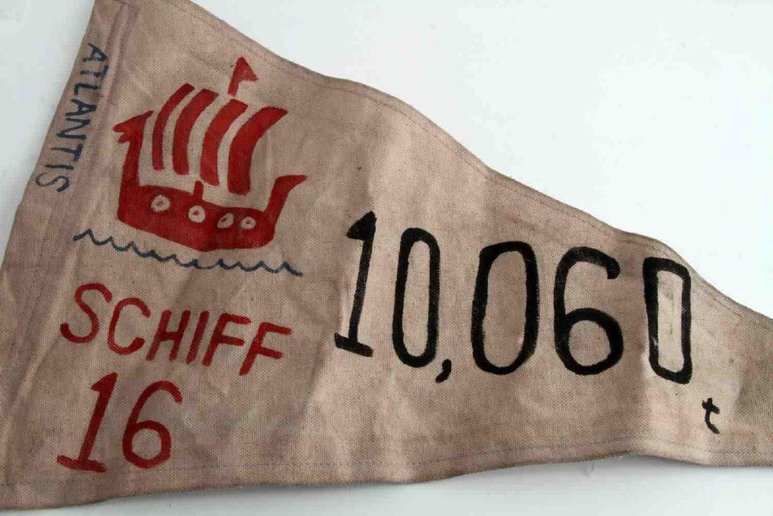 WWII GERMAN THIRD REICH NAVAL E BOAT KILL FLAG - 2