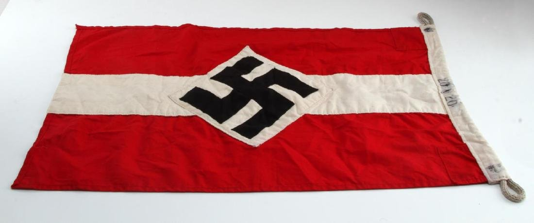WWII GERMAN THIRD REICH HITLER YOUTH FLAG BANNER - 5