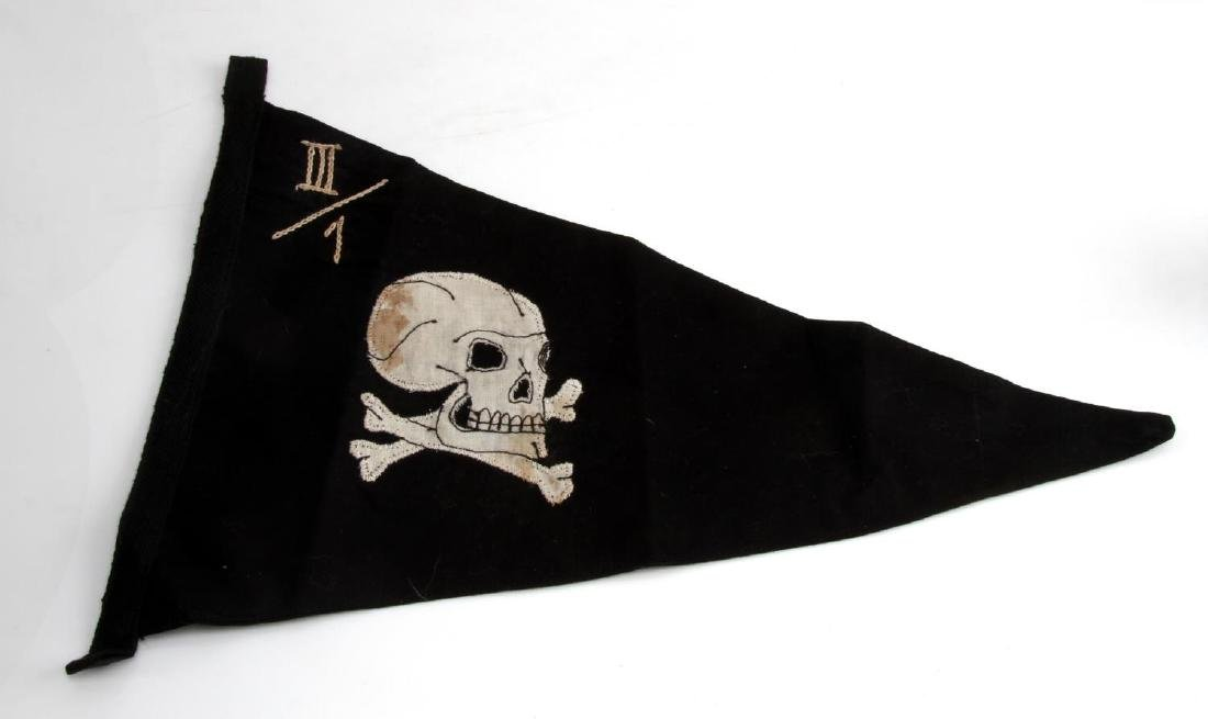 GERMAN WWII WAFFEN SS OBERBAYERN OFFICER PENNANT