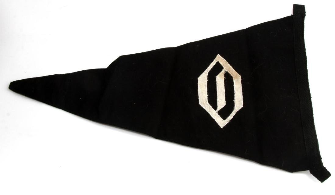 GERMAN WWII WAFFEN SS OBERBAYERN OFFICER PENNANT - 3