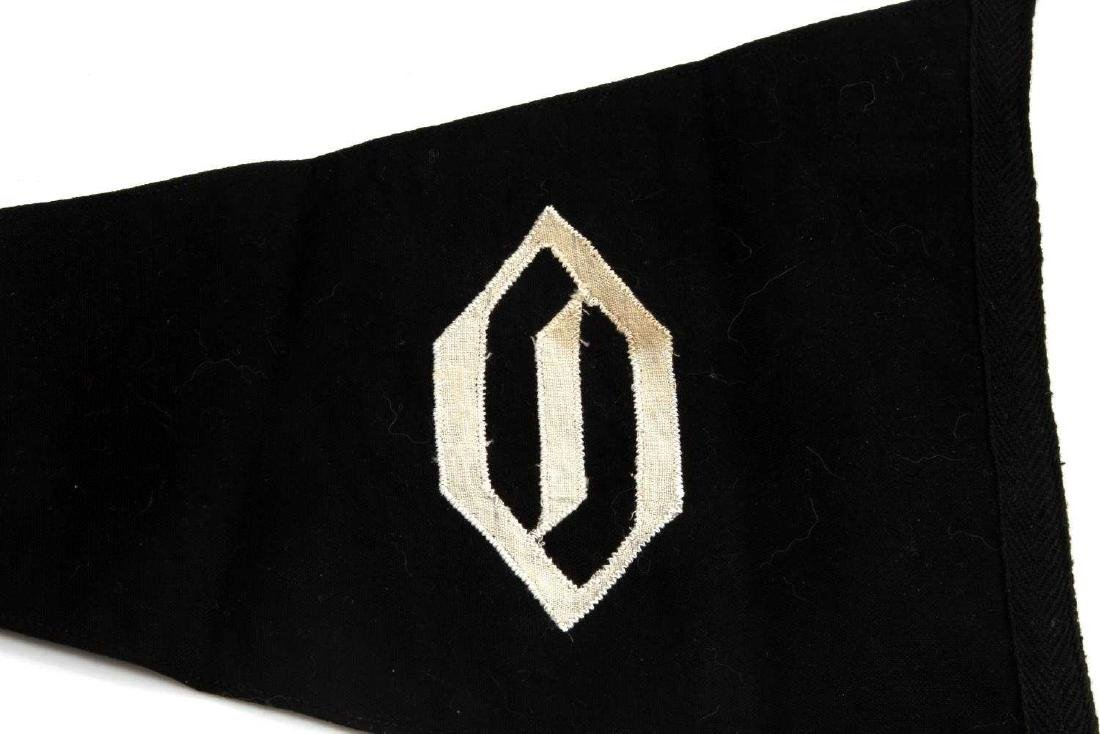 GERMAN WWII WAFFEN SS OBERBAYERN OFFICER PENNANT - 4