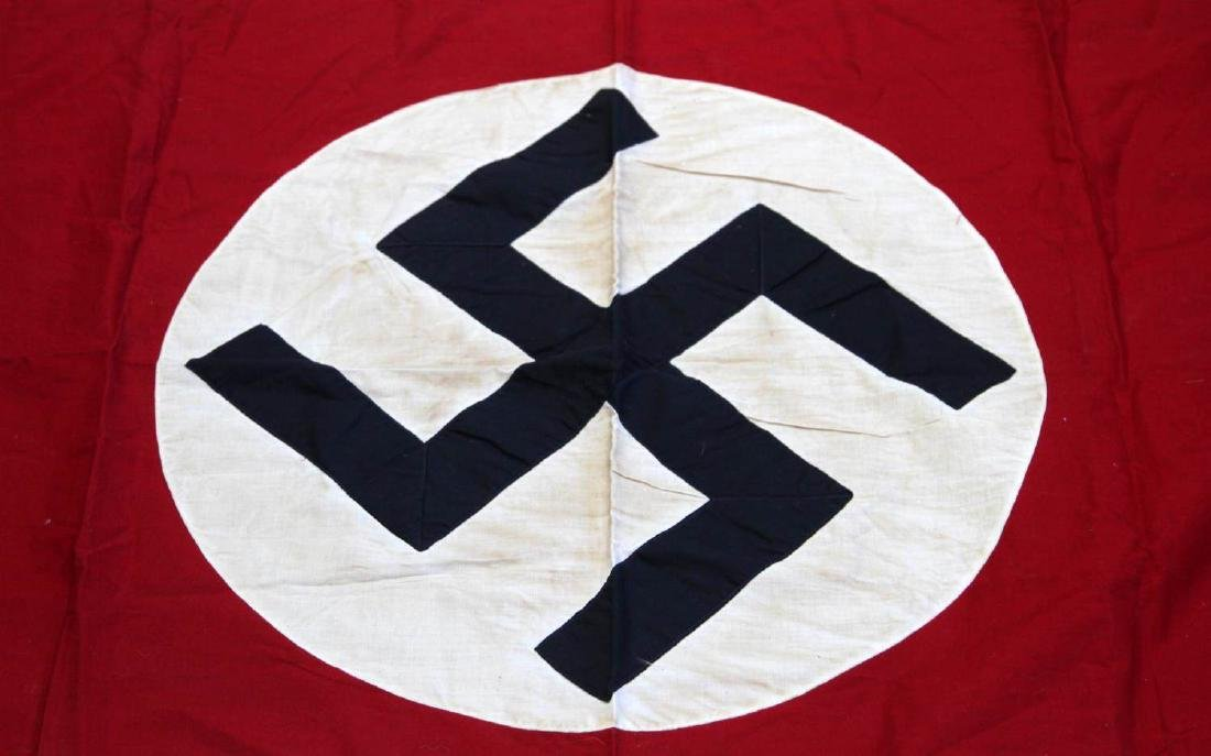 GERMAN WWII POLITICAL NSDAP PARTY SWASTIKA FLAG - 2
