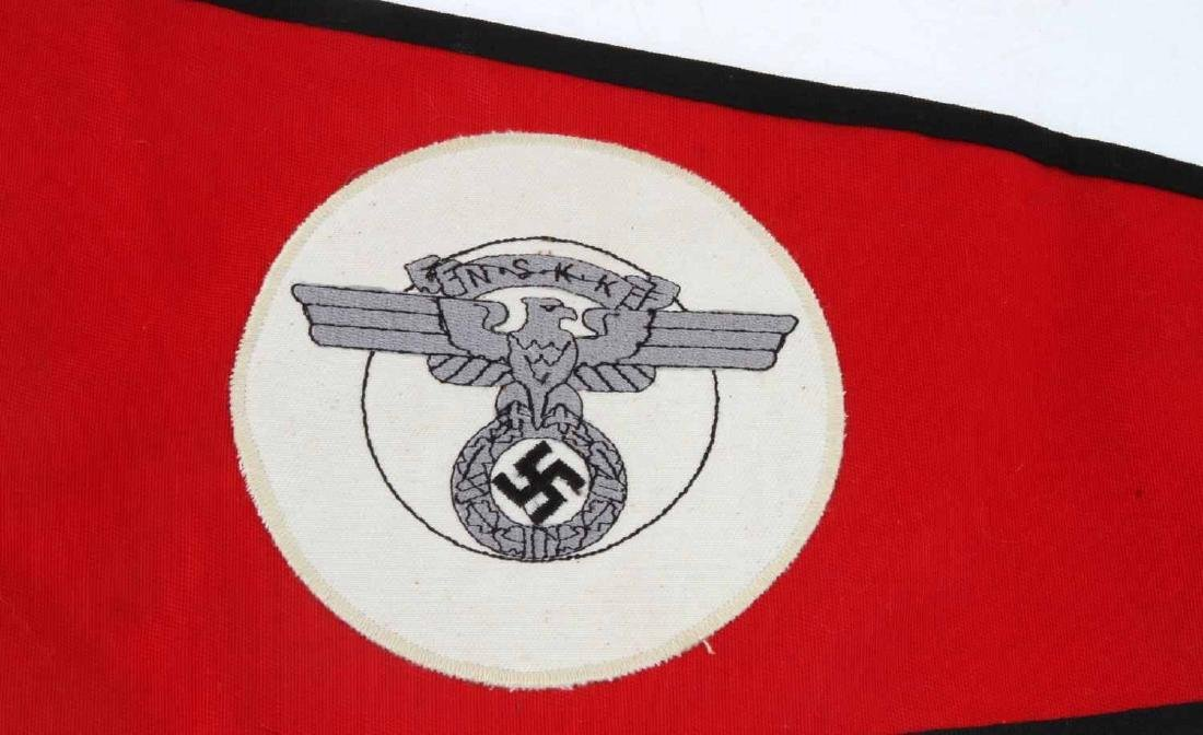 GERMAN WWII NSKK MOTORCYCLE KORPS OFFICERS PENNANT - 2