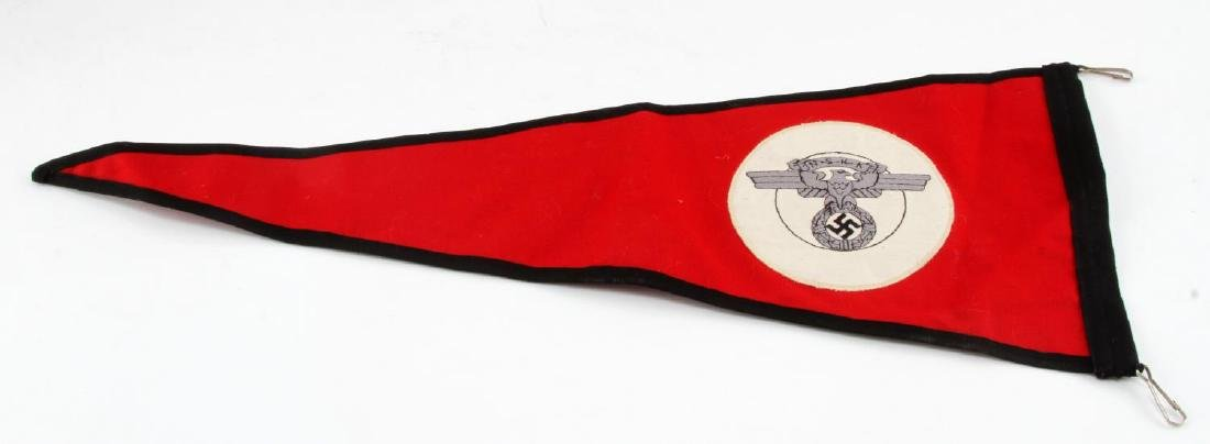 GERMAN WWII NSKK MOTORCYCLE KORPS OFFICERS PENNANT - 3