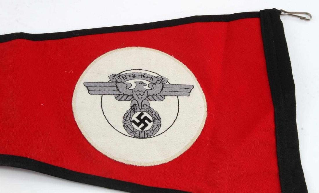GERMAN WWII NSKK MOTORCYCLE KORPS OFFICERS PENNANT - 4