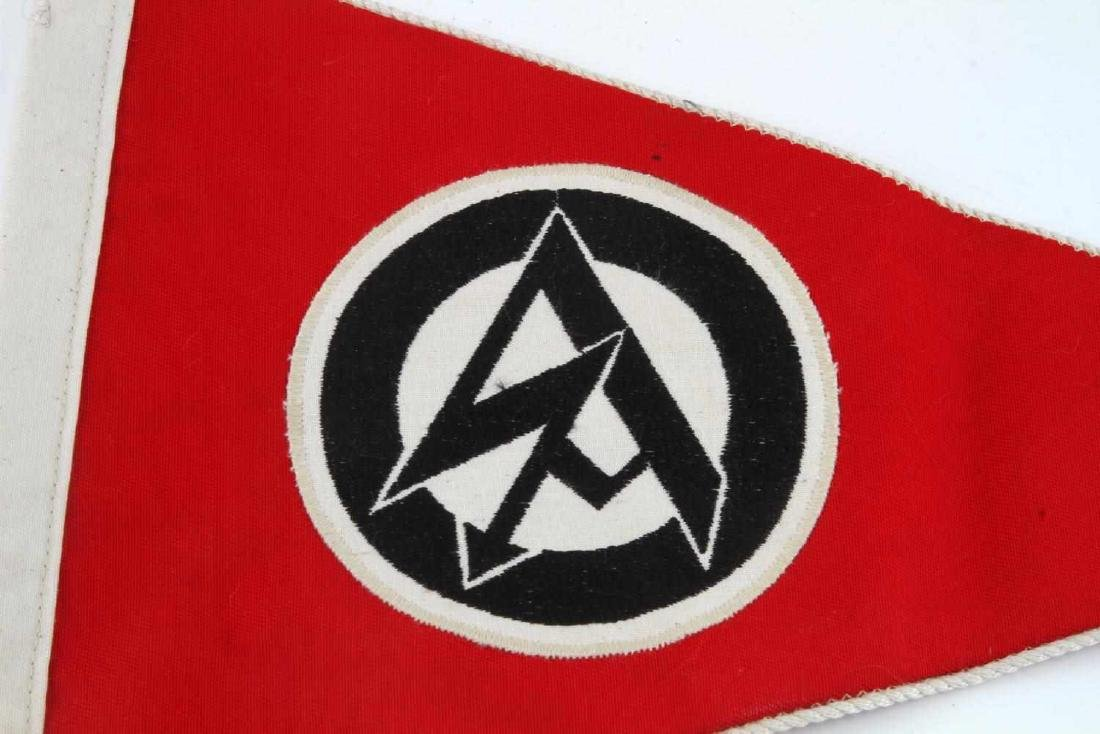 GERMAN WWII POLITICAL SA OFFICERS CAR PENNANT - 2