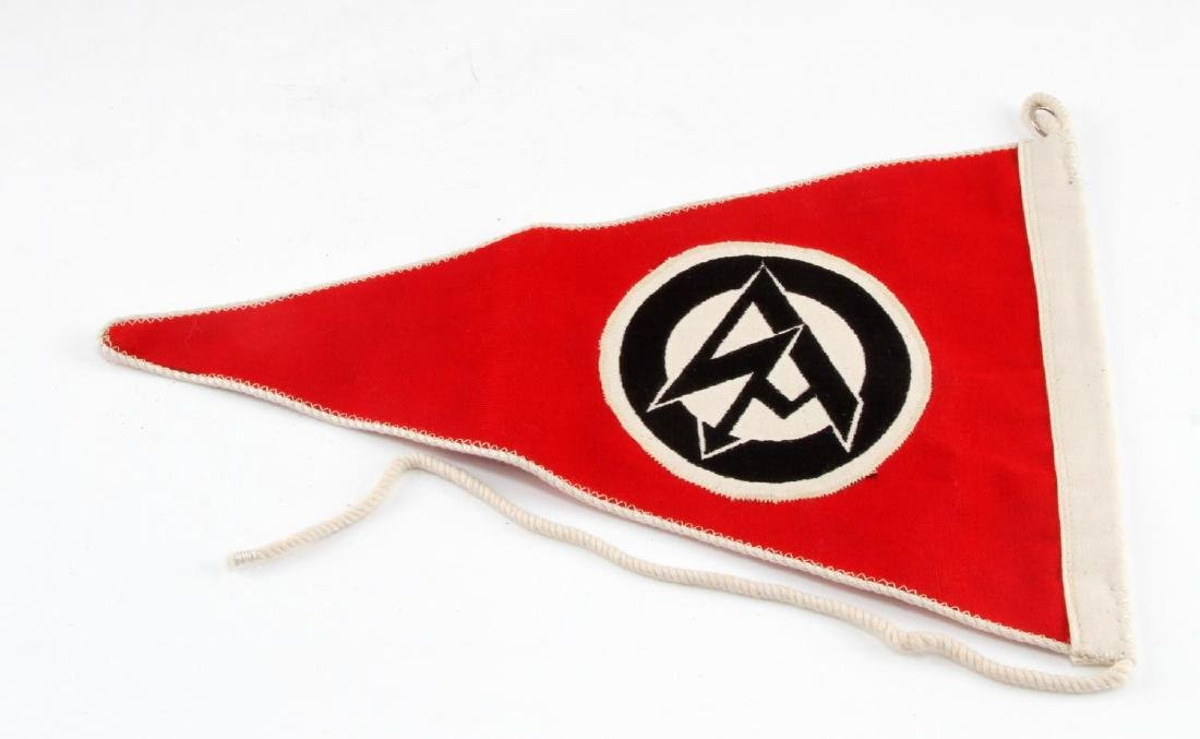 GERMAN WWII POLITICAL SA OFFICERS CAR PENNANT - 3