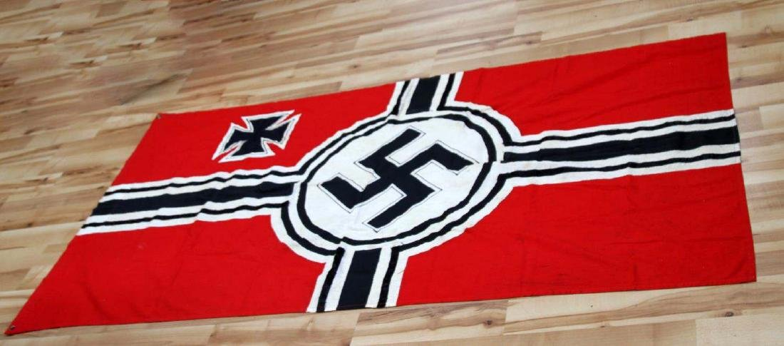 GERMAN WWII 3RD REICH COMBAT SWASTIKA BATTLE FLAG