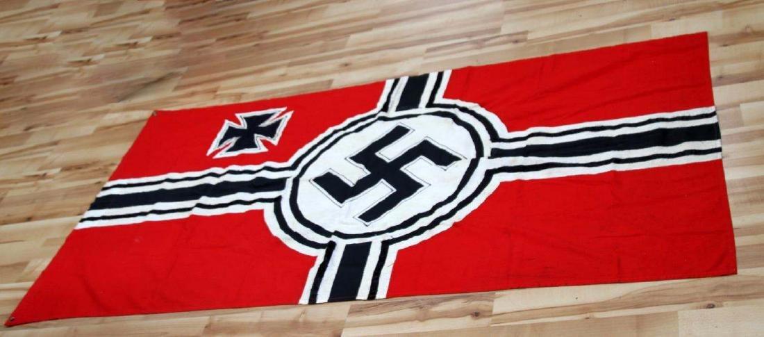 GERMAN WWII 3RD REICH COMBAT SWASTIKA BATTLE FLAG