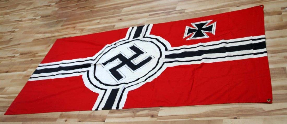 GERMAN WWII 3RD REICH COMBAT SWASTIKA BATTLE FLAG - 4
