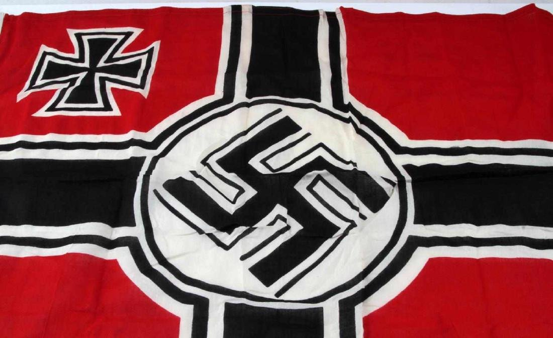WWII GERMAN THIRD REICH KRIEGSMARINE BATTLE FLAG - 2