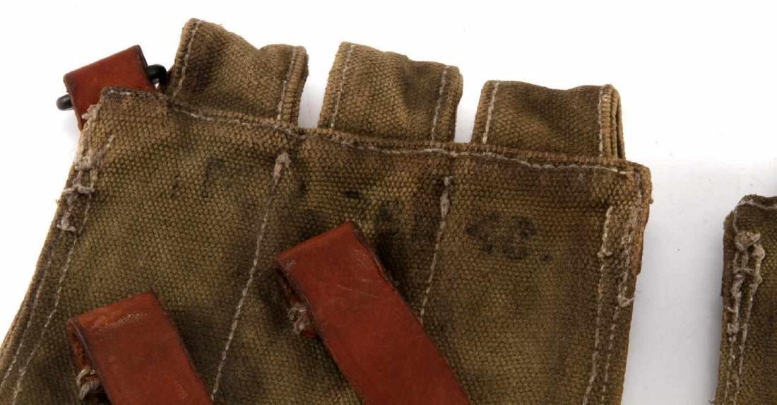 2 GERMAN WWII SMISER MACHINE GUN CLIP POUCHES - 3