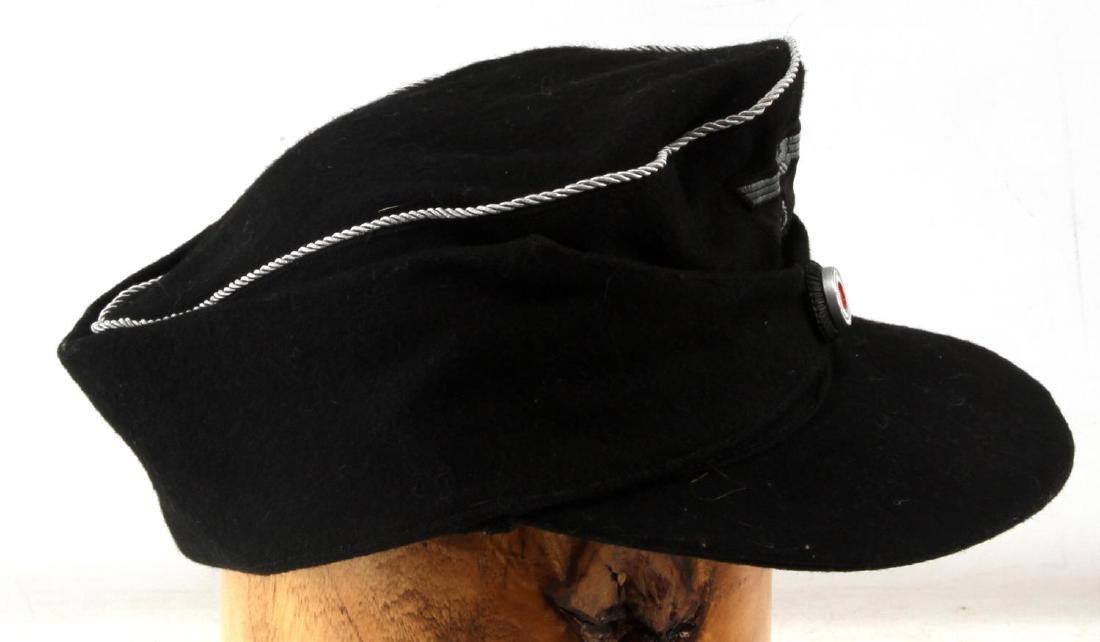 GERMAN WWII THIRD REICH PANZER OFFICERS M43 CAP - 2