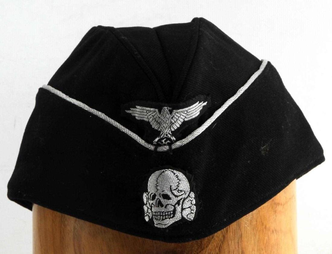 WWII GERMAN THIRD REICH SS WOOL OVERSEAS CAP