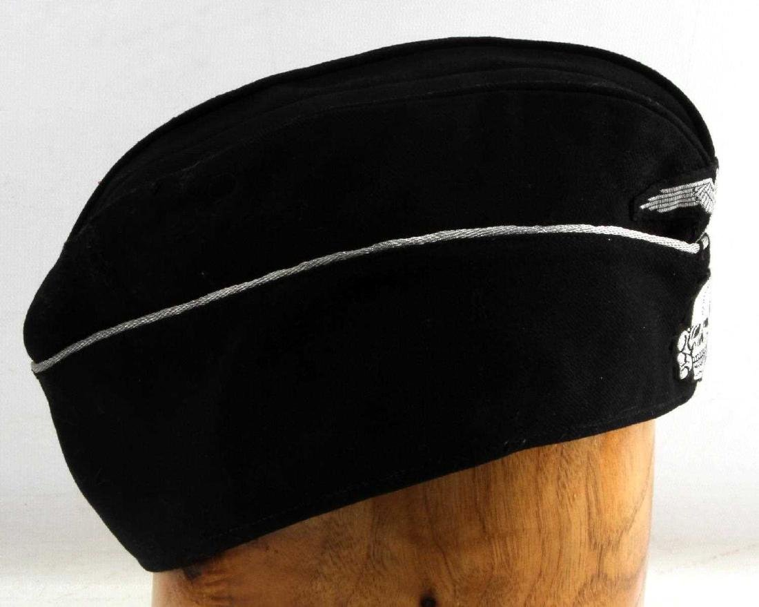 WWII GERMAN THIRD REICH SS WOOL OVERSEAS CAP - 2