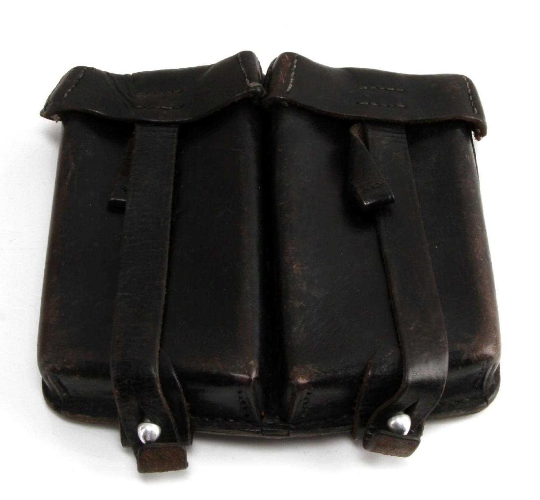 GERMAN WWII WAFFEN SS MG42 LEATHER AMMO POUCH