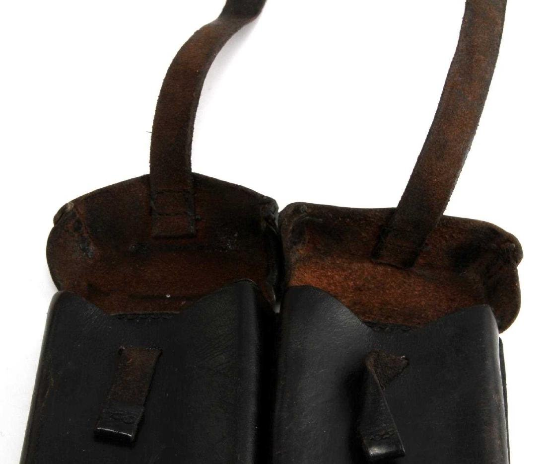 GERMAN WWII WAFFEN SS MG42 LEATHER AMMO POUCH - 2