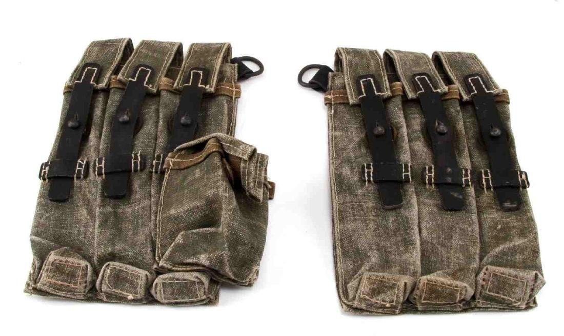 WWII GERMAN THIRD REICH WAFFEN SS SMG MAG POUCHES