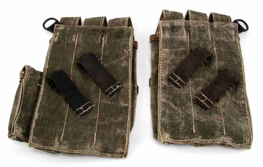 WWII GERMAN THIRD REICH WAFFEN SS SMG MAG POUCHES - 2