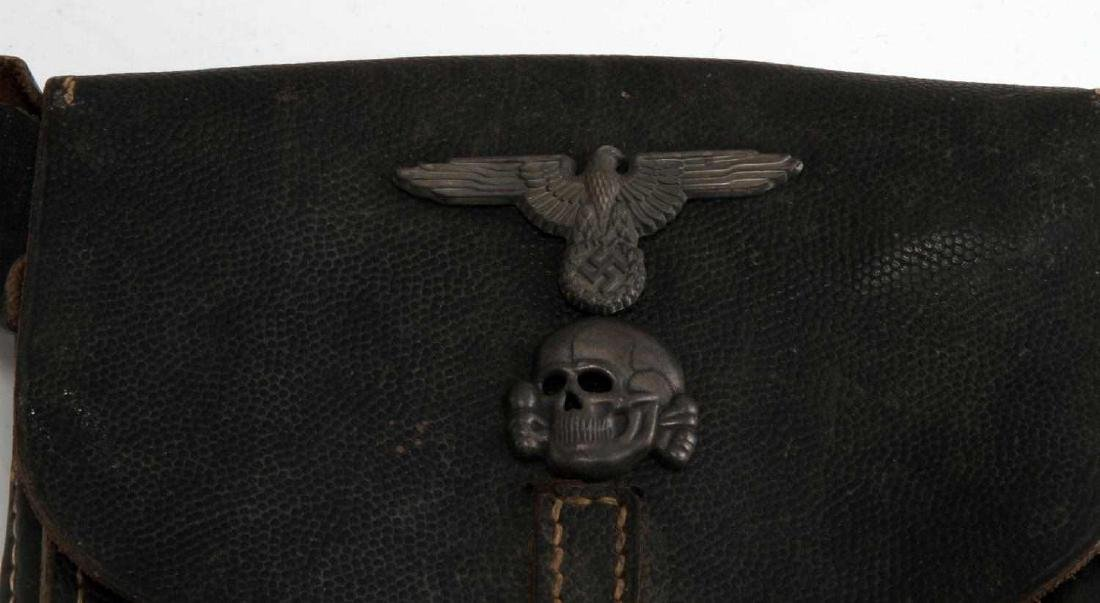 GERMAN WWII WAFFEN SS OFFICERS LEATHER MAP CASE - 2