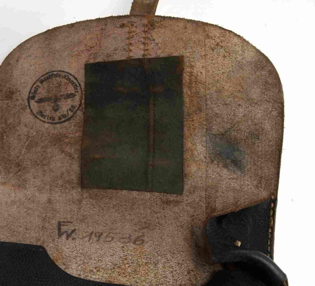 GERMAN WWII WAFFEN SS OFFICERS LEATHER MAP CASE - 3
