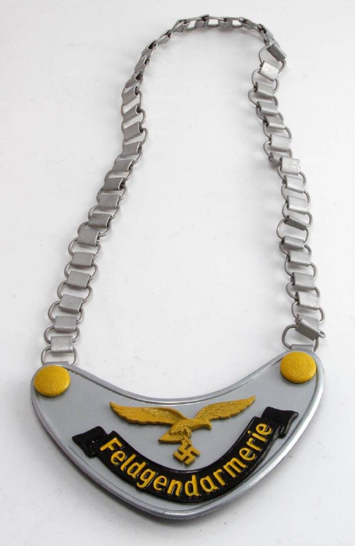 GERMAN WIII THIRD REICH FELDGENDARMERIE GORGET