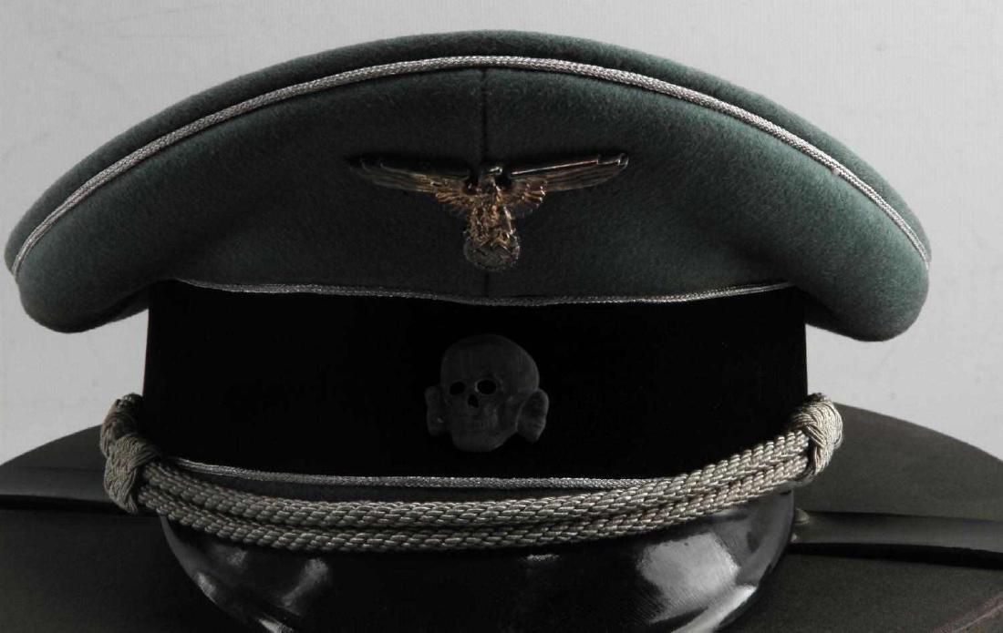 WWII GERMAN THIRD REICH WAFFEN SS VISOR CAP BOXED - 2