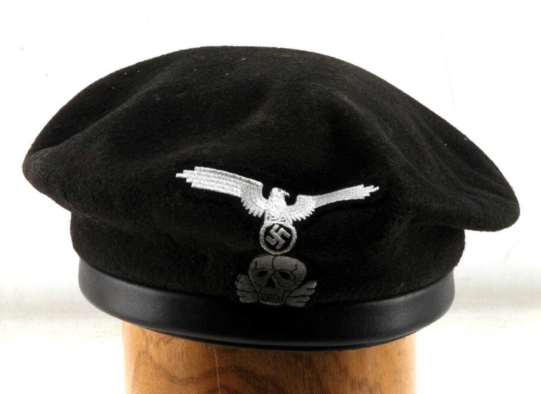 GERMAN WWII WAFFEN SS PANZER TANK KORPS BERET
