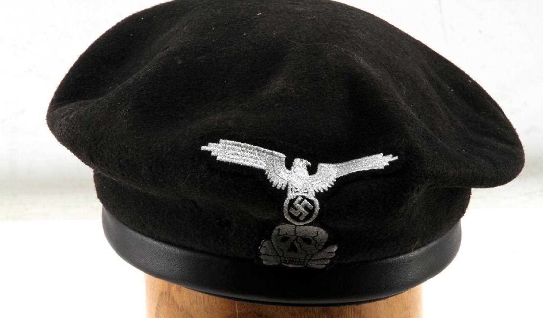 GERMAN WWII WAFFEN SS PANZER TANK KORPS BERET - 2