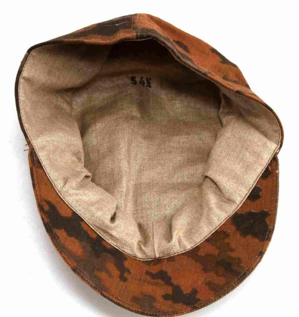 GERMAN WWII WAFFEN SS CAMO EM M-41 FIELD CAP - 4