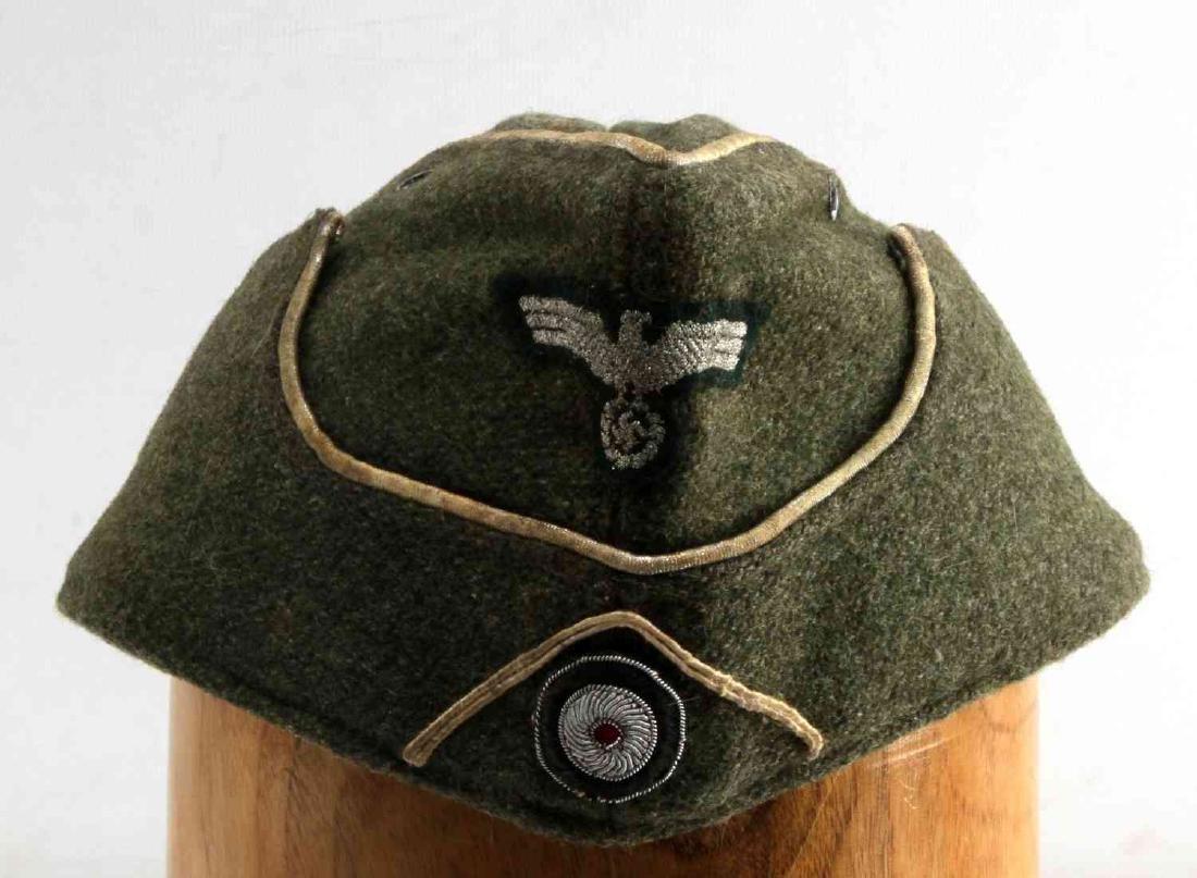 GERMAN WWII ARMY INFANTRY OFFICERS OVERSEAS CAP