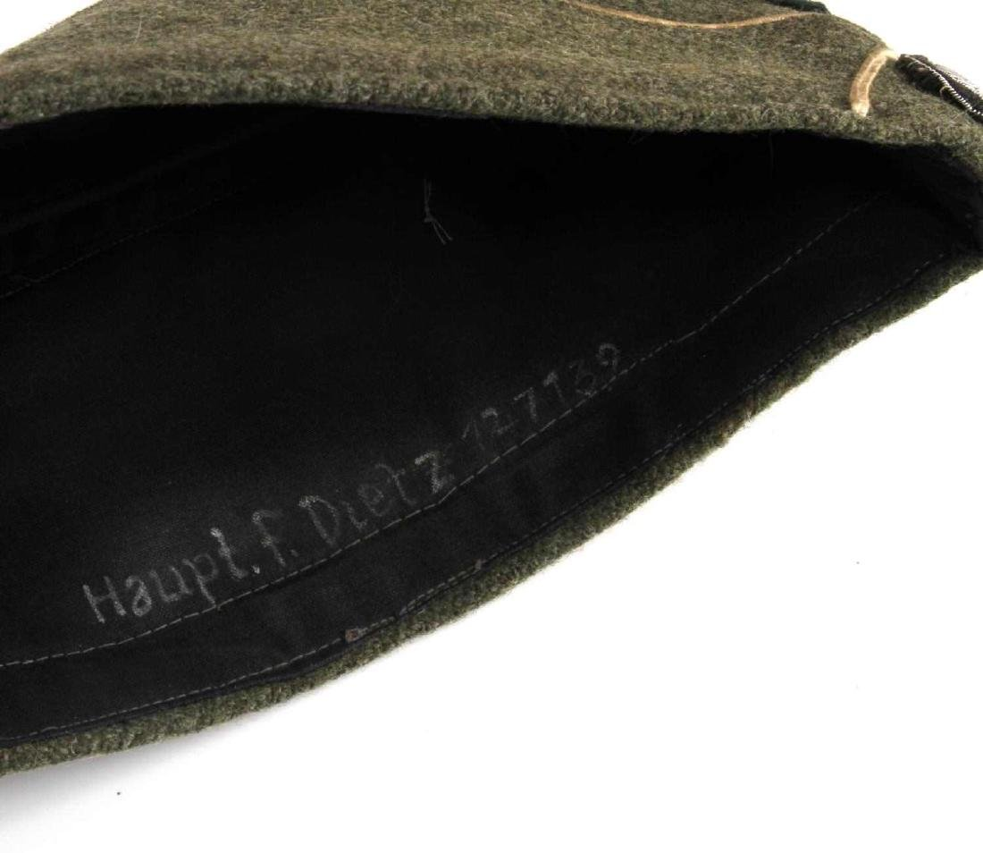 GERMAN WWII ARMY INFANTRY OFFICERS OVERSEAS CAP - 4