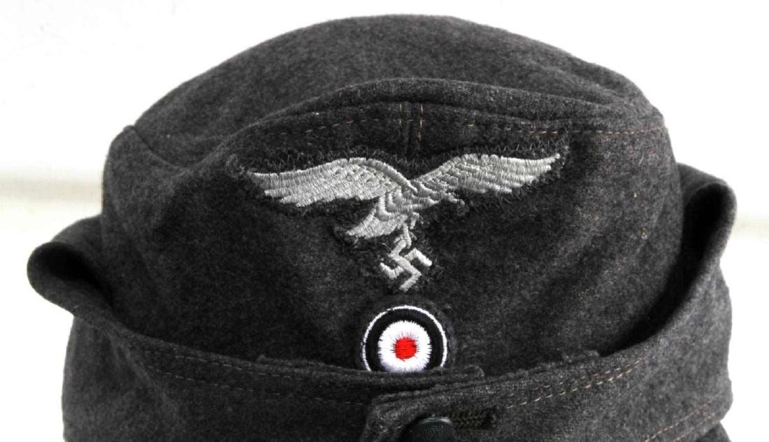 GERMAN WWII LUFTWAFFE ENLISTED MANS M43 CAP HAT - 2