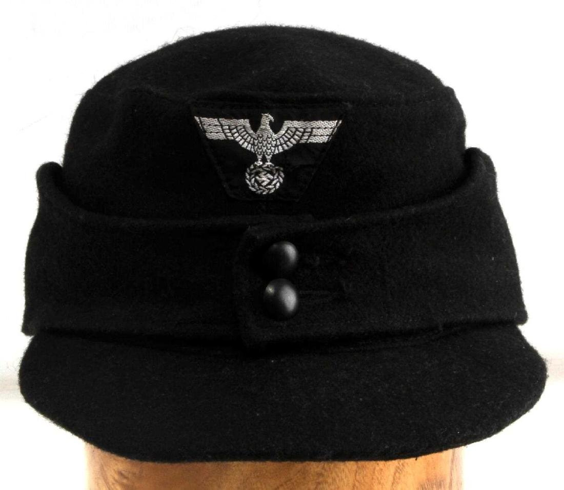 GERMAN WWII WAFFEN SS PANZER ENLISTED MANS M43 CAP