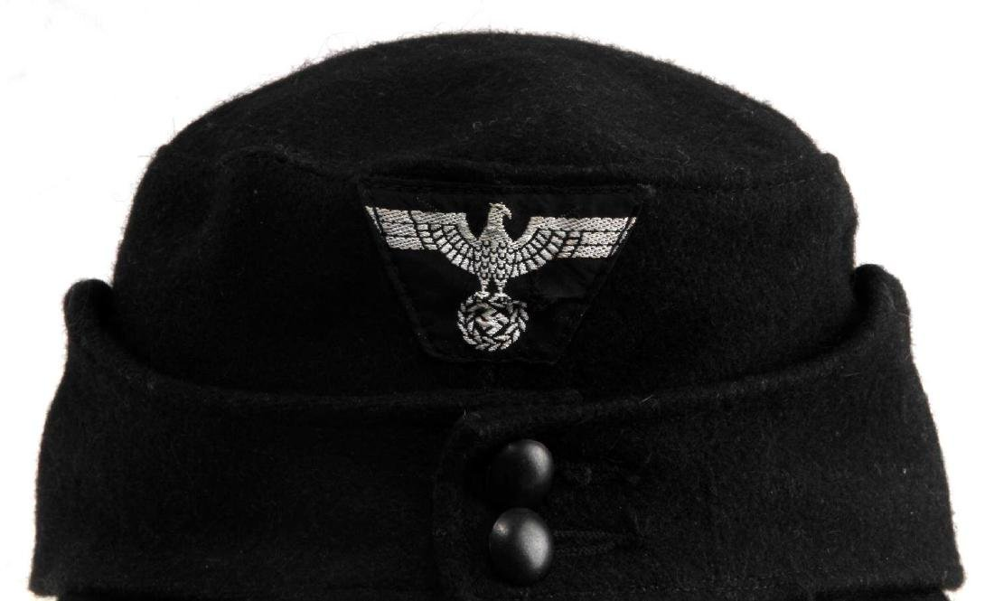 GERMAN WWII WAFFEN SS PANZER ENLISTED MANS M43 CAP - 2