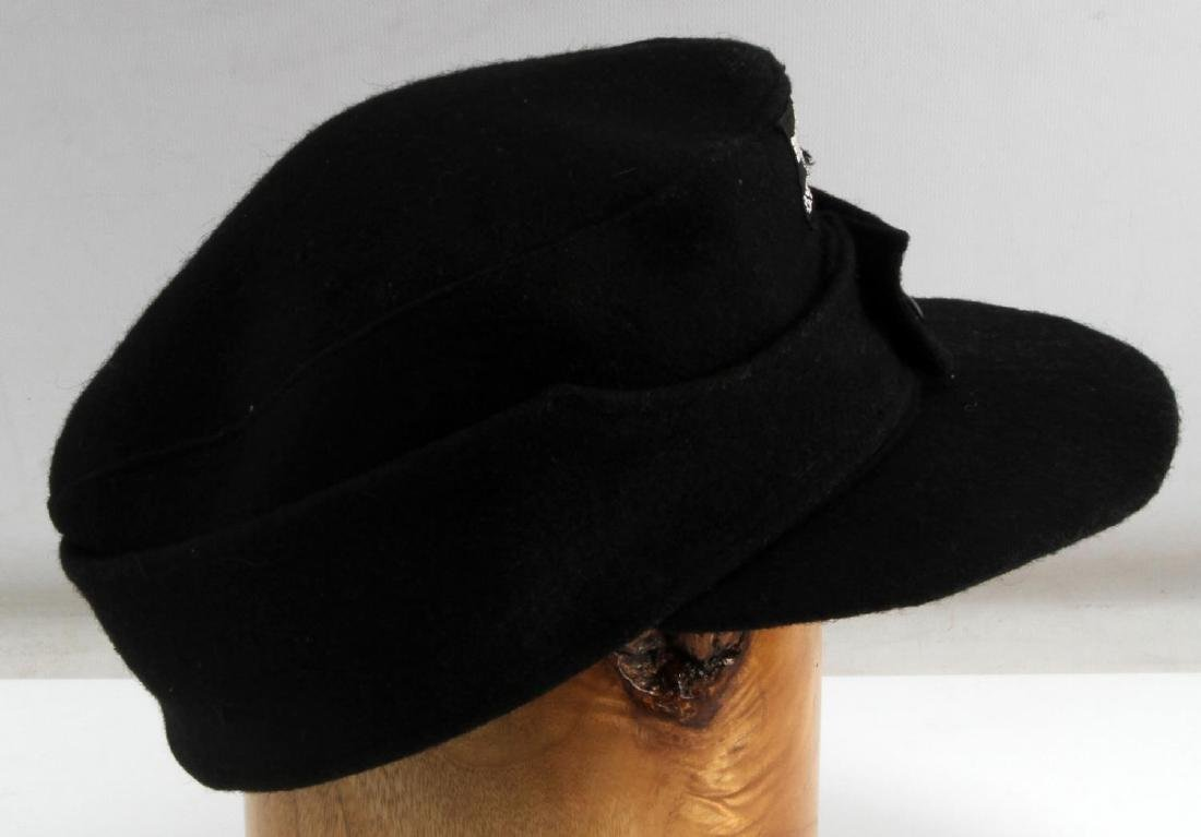 GERMAN WWII WAFFEN SS PANZER ENLISTED MANS M43 CAP - 3