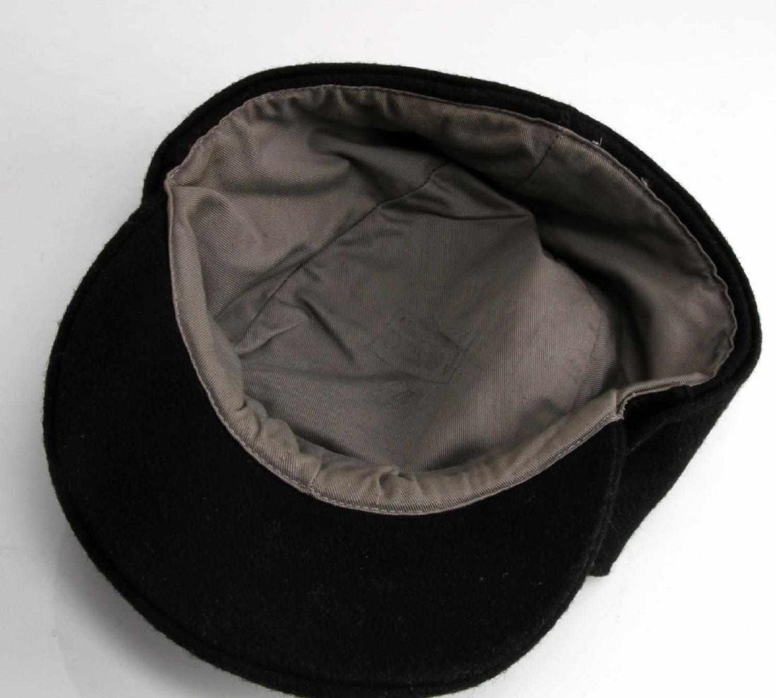 GERMAN WWII WAFFEN SS PANZER ENLISTED MANS M43 CAP - 5
